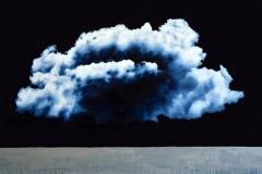 2- Clouds II - oil on canvas - cm100x150- 2019 - Collezione privata