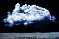 Clouds XVIII - oil on canvas - cm100x150- 2018 - Collezione privata